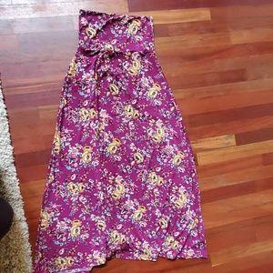 XXS Lularoe maxi skirt slinky floral